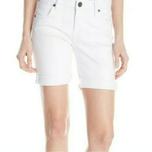Kut from the Kloth white jean bermuda shorts